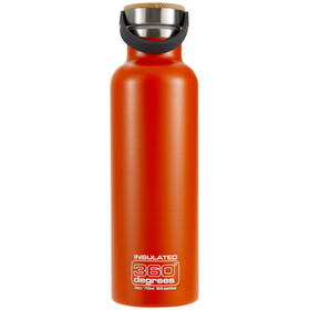 360° degrees Vacuum Insulated Drinkfles 750ml oranje